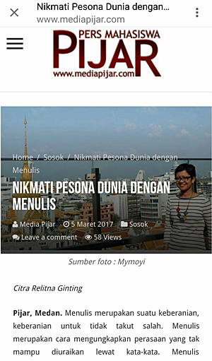 Profil Mollyta Mochtar di Media Pijar