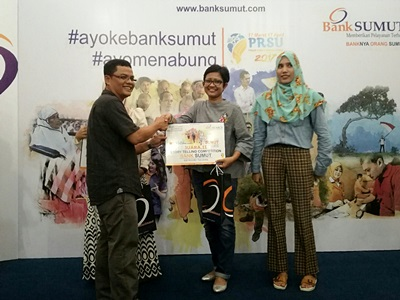 Mollyta pemenang kedua Story Telling Competition Bank Sumut 2017