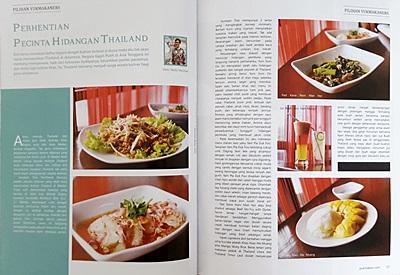 Publikasi tulisan Mollyta pada majalah Yukmakan.com edisi Maret-Mei 2017
