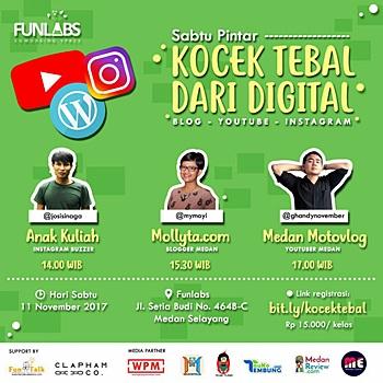 Pembicara Event Sabtu Pintar Kocek Tebal Dari Digital