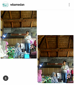 Narasumber acara Gathering Wardah Beauty Agent Medan 2016