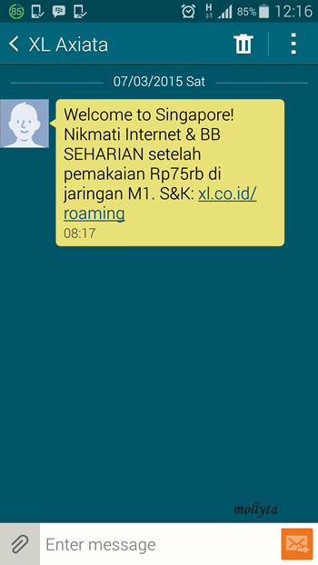 Screenshot sms XL