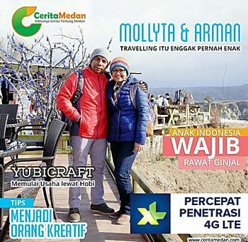 Mollyta di portal komunitas Cerita Medan