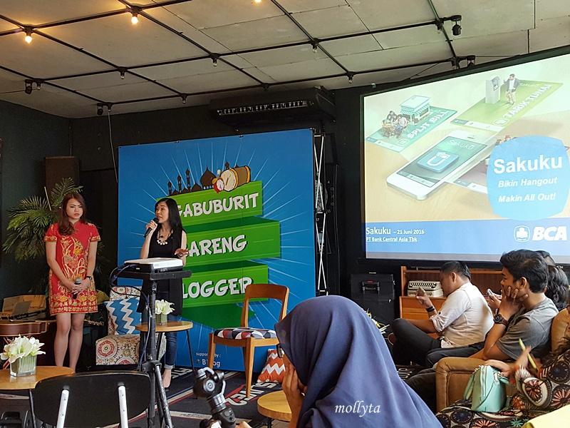 Ibu Clara Jessica dari BCA Jakarta di Ngabuburit Bareng Blogger