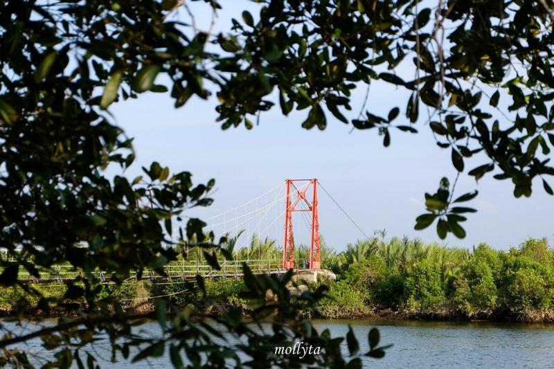 Jembatan gantung desa Dogang di Gebang Langkat
