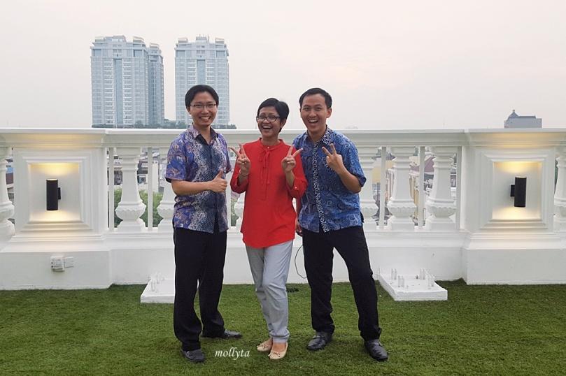 Bersama admin Instagram di Adimulia Hotel Medan