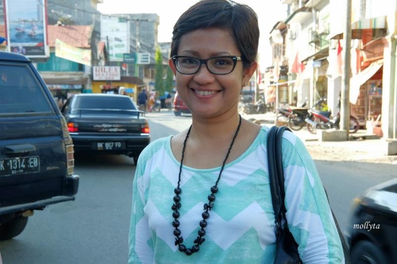 di tengah kota Tanjung Pura Langkat