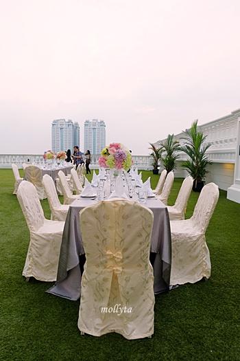 Roof Garden di lantai 7 Adimulia Hotel Medan