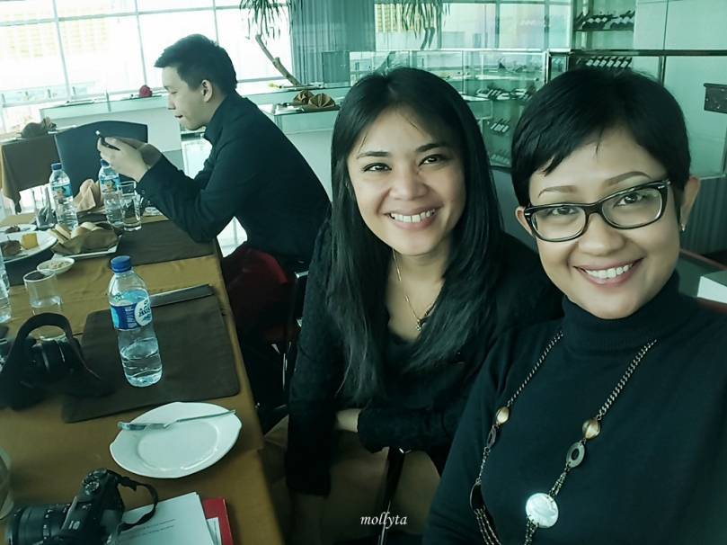 Bersama Joice Christy Tarigan selaku PR Executive Grand Swiss-Belhotel Medan