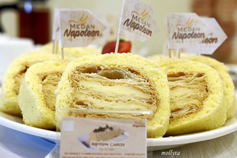 Napoleon cake rasa cheese