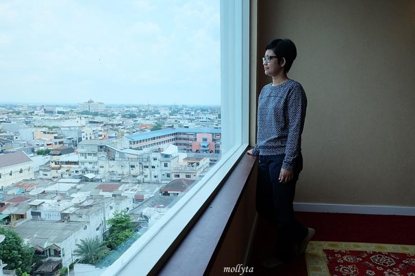Pemandangan dari Adimulia Hotel Medan