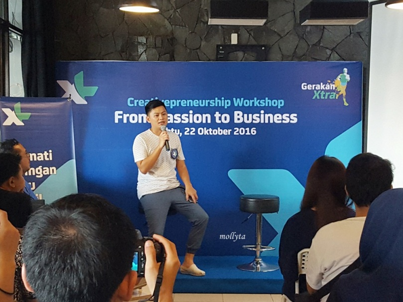Indra Halim di acara XL Creativepreneurship Workshop Medan
