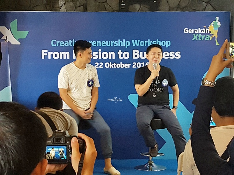 Kenny Santana di acara Creativepreneurship Workshop Medan