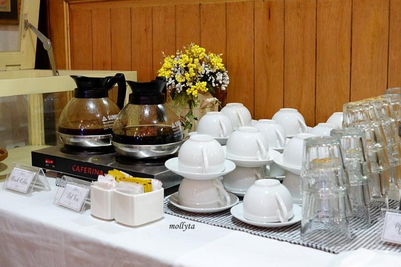 Kopi dan teh di acara launching Bioderma di Medan