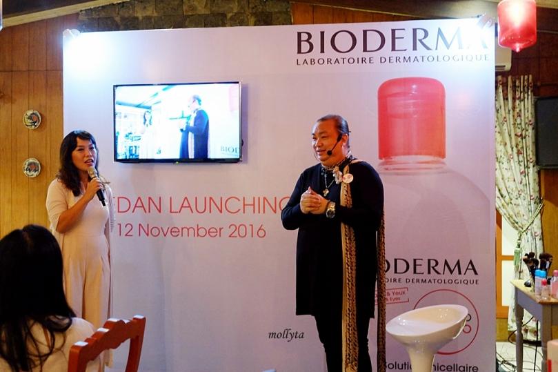 Qiqi Franky di acara Launching Bioderma di Medan