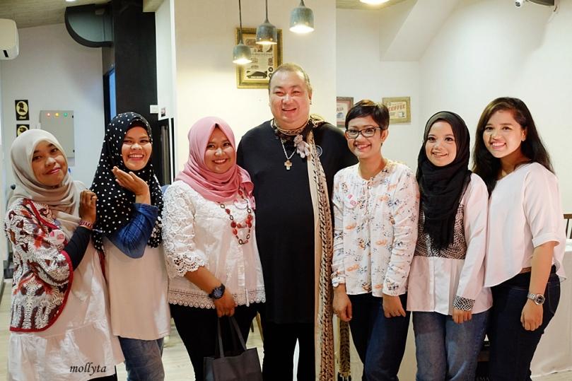 Bersama Qiqi Franky di Launcing Bioderma di Medan