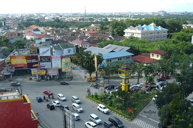 View kota Medan dari jendela kamar Hotel Grandhika Setiabudi Medan