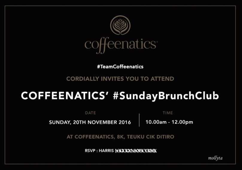 Coffeenatics` #SundayBrunchClub