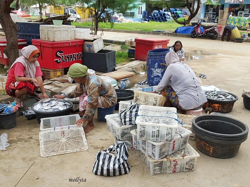 Para istri nelayan di PPI Pasongsongan Madura