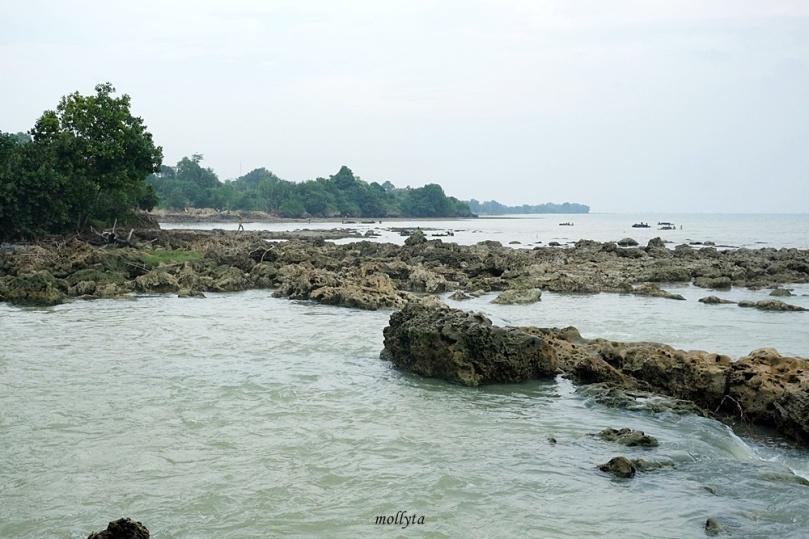laut di dekat air terjun Toroan