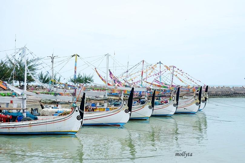 perahu nelayan di PPI Pasongsongan Sumenep