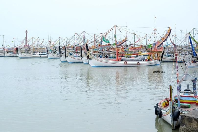 Perahu nelayan di PPI Pasongsongan kabupaten Sumenep Madura