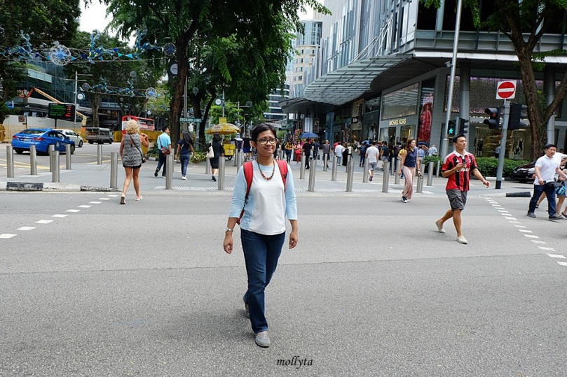 Menyeberang jalan di Orchard