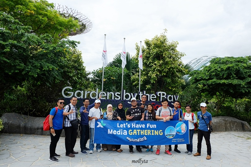 Gardens by the Bay bersama teman-teman XL Media Gathering