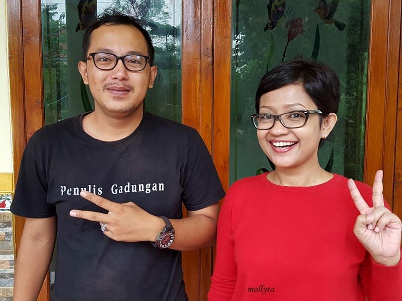 Bersama Fajrin Herris bloger Lampung