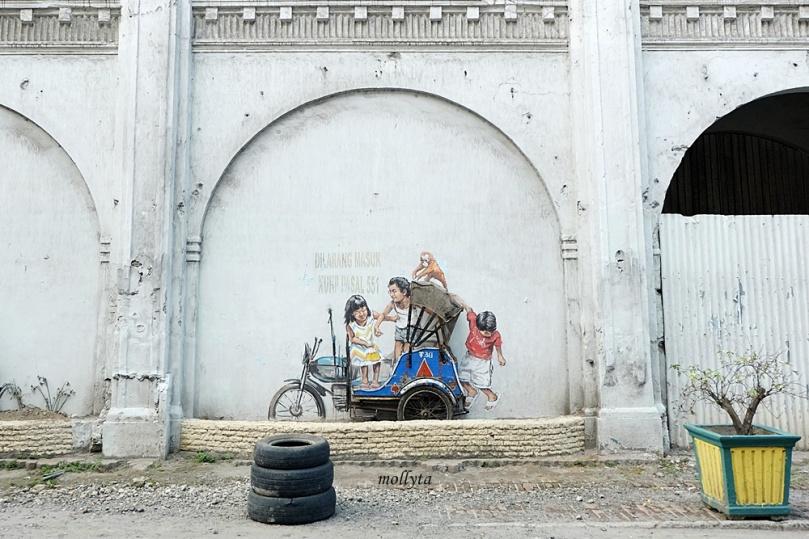 Mural cantik di jalan Perdana Medan