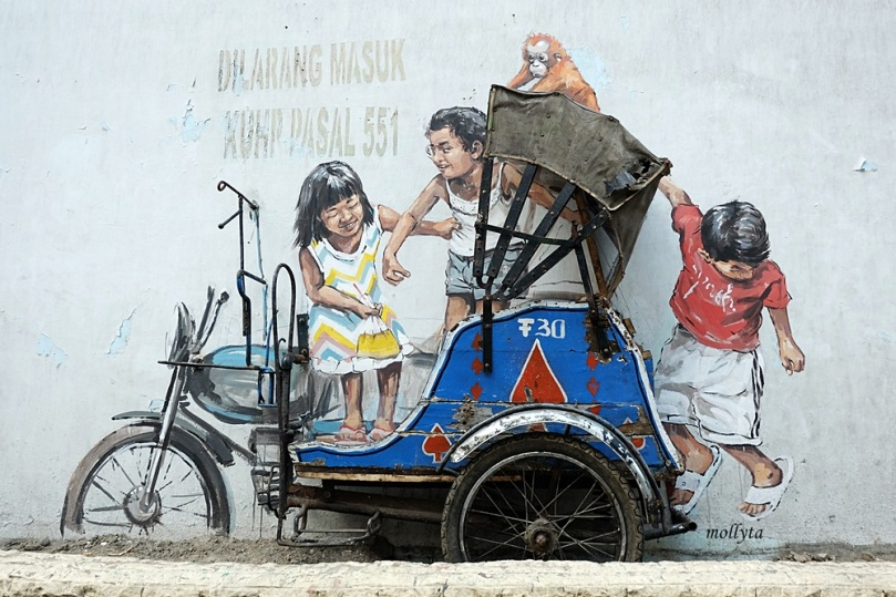 Mural Cantik Karya Ernest Zacharevic di Medan