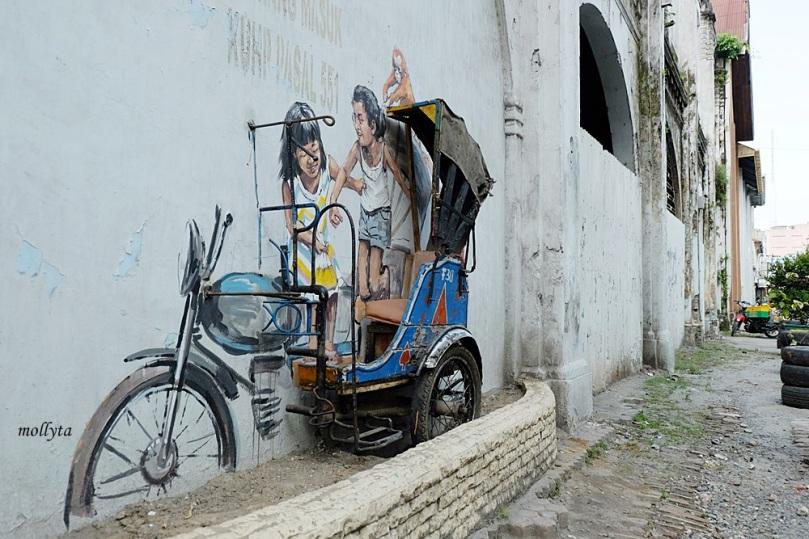 Mural di jalan Perdana Medan