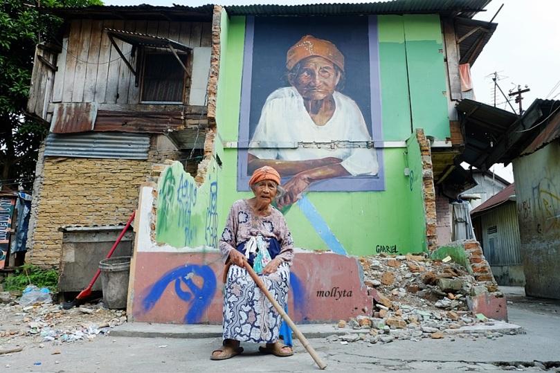 Lukisan mural nenek Nurbaya di Medan