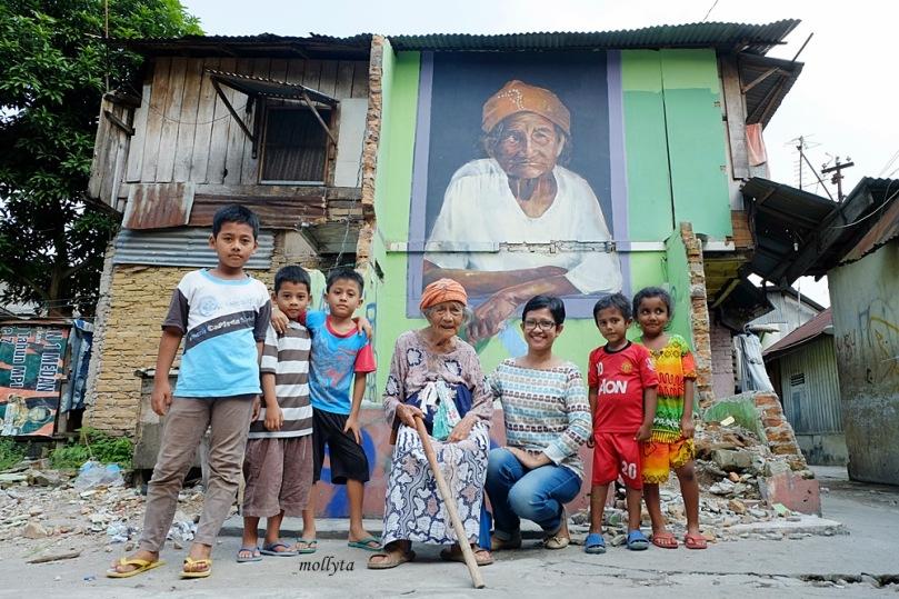 Lukisan mural Gabriel Pitcher di Medan