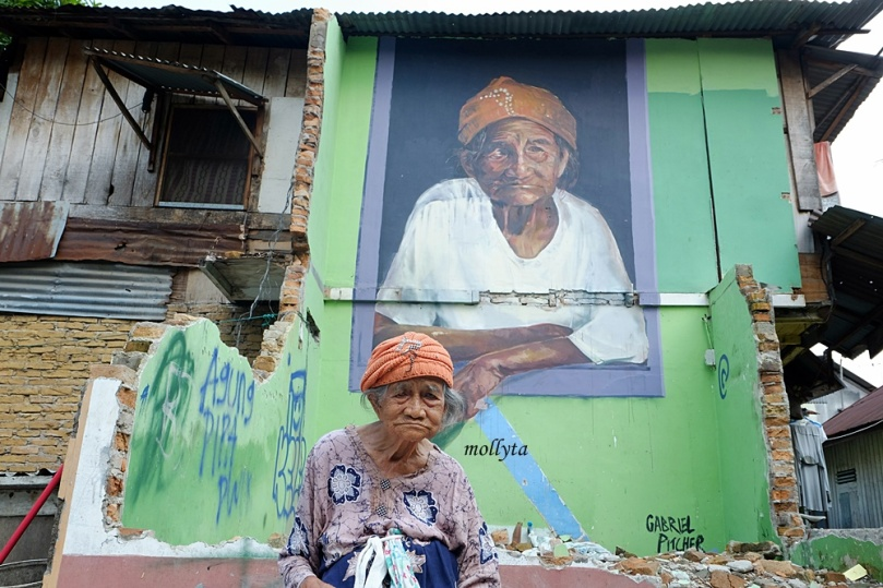 Mural nenek Nurbaya di Medan