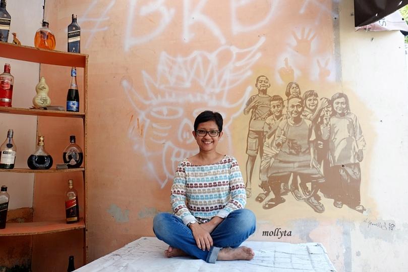 Lukisan mural cantik di Multatuli Medan