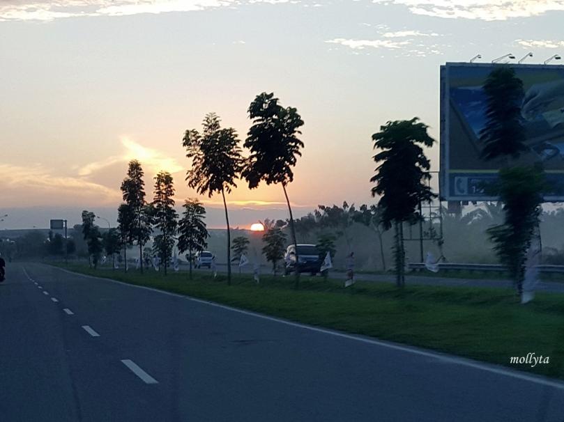 Menuju bandara Kualanamu Deli Serdang