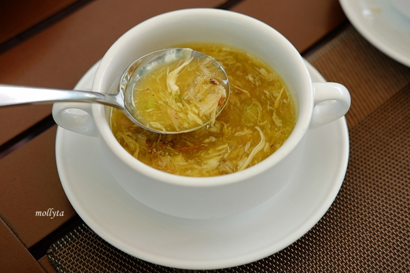 Crab meat soup with asparagus Aryaduta Medan