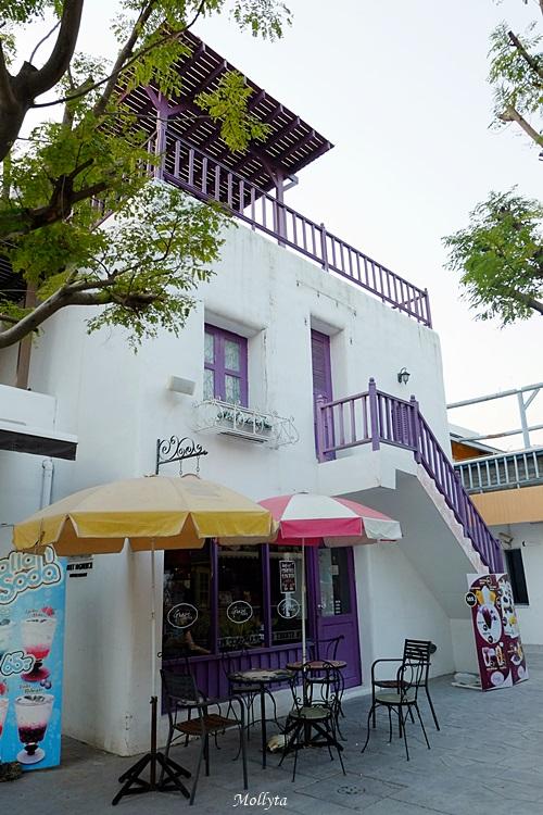 Kafe di Santorini Park, Hua Hin Thailand
