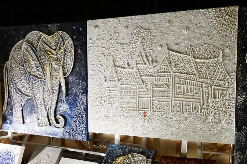 pameran lukisan di Cicada Market Hua Hin