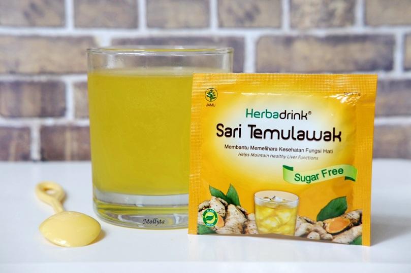 Minuman kesehatan Herbadrink Sari Temulawak
