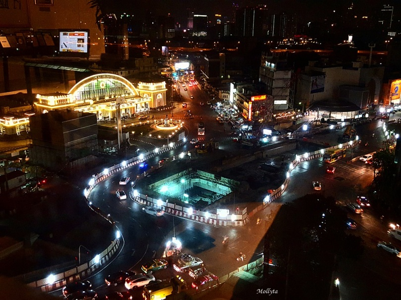 Hua Lamphong Railway Station dilihat dari Prime Hotel Central Station Bangkok