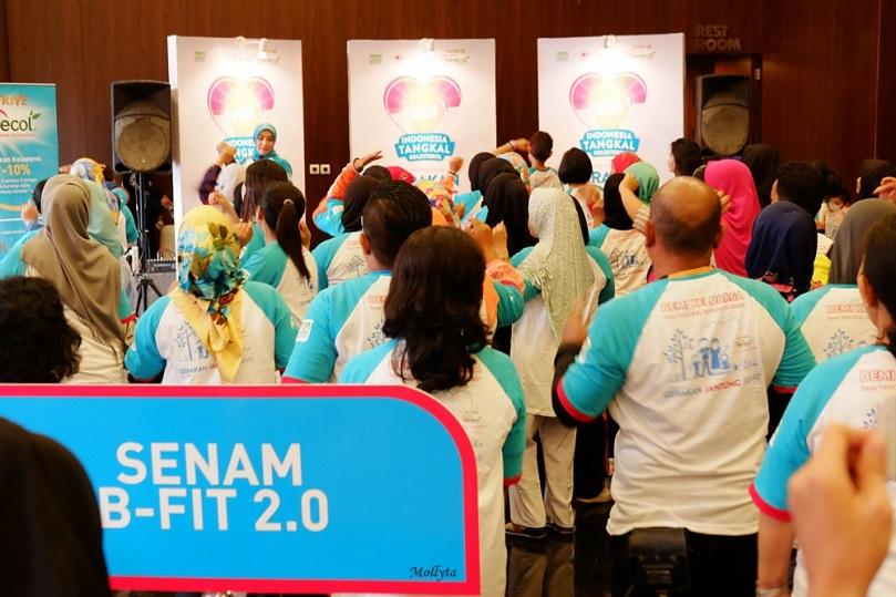 Senam B-Fit 2.0 di Medan
