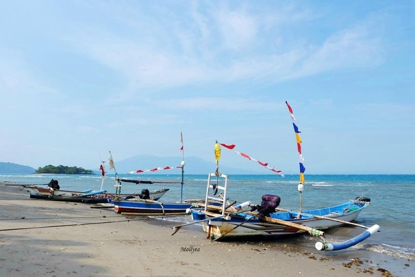 Perahu nelayan Pulau Sebesi