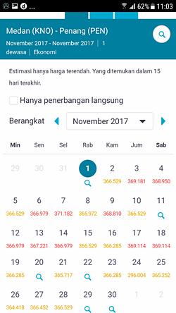 Harga termurah bulan November di Skyscanner