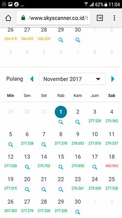 Mencari tiket murah bulan November di Skyscanner