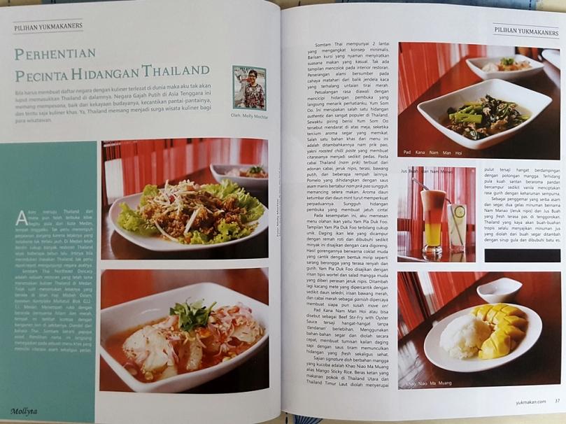 Tulisan kuliner di majalah