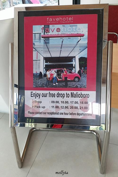 Layanan antar-jemput gratis dari favehotel Malioboro Yogyakarta
