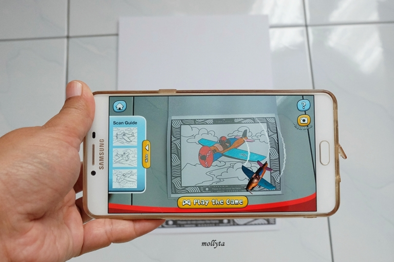 Mewarnai dengan teknik Augmented Reality Faber-Castell Colour to Life