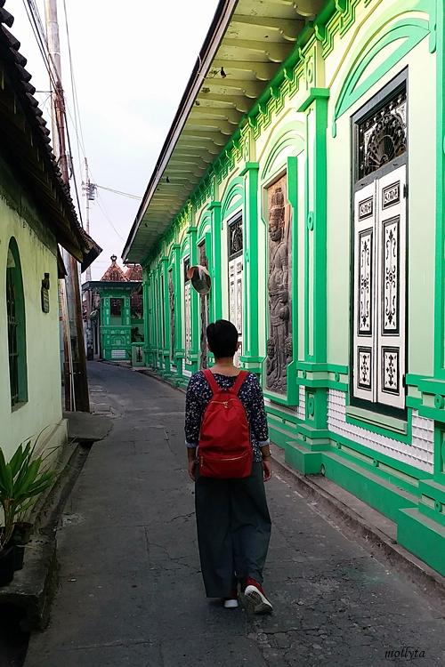Suasana lorong di Omah Kalang Kotagede